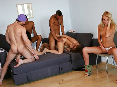 Cock-hungry school femmes have a explosion